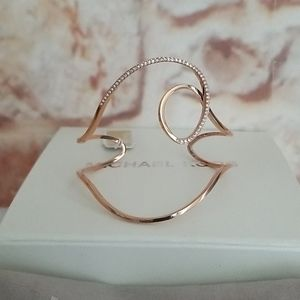 New Michael Kors Brilliance Rose Gold Cuff Bracele